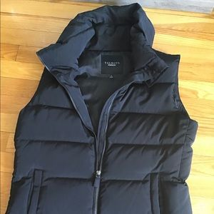 Talbots goose down filled puffer vest black SMALL